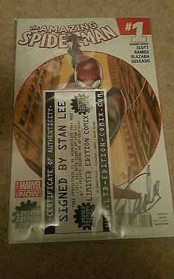 AMAZING SPIDERMAN #1 MARVEL  LIMITED EDITION COMIX VARIANT signed by stan lee
