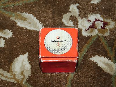 Vintage Wilson Staff individually boxed golf ball never used w/ RCA logo