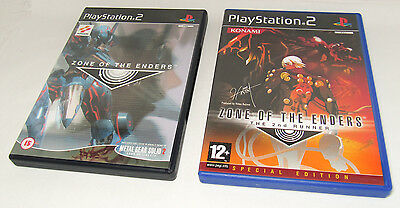 Zone of the Enders 1 and 2nd Runner. Used for PlayStation 2. PAL version.