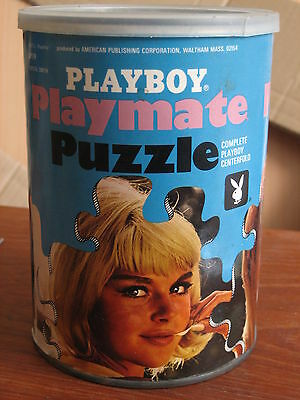 Playboy Puzzle Vintage Complete Playmate Centerfold Pinup Pornography In A Can