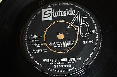 Supremes - Where Did Our Love Go / He Means The World To Me - Vg++