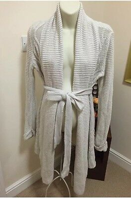 Mothercare Blooming Marvellous Maternity Thick Knit Cream Long Cardigan size 12