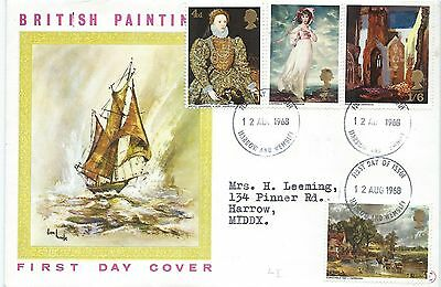 Great Britain 1968 British paintings first day cover