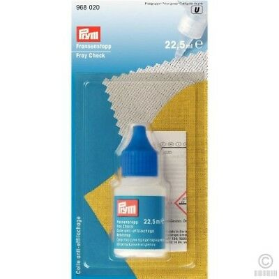 PRYM Fray Check Water resistant Edging Glue For Sewing,Quilting,Hair Extensions