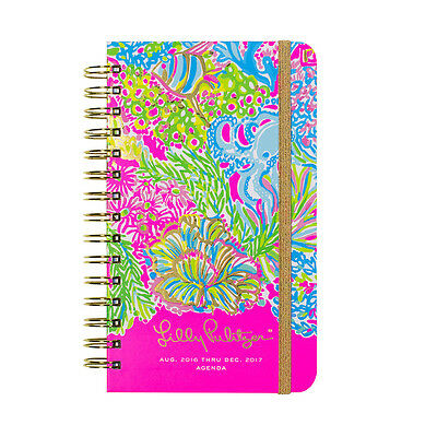 Lilly Pulitzer NWT Lovers Coral Agenda 2016-2017 #162221 $24