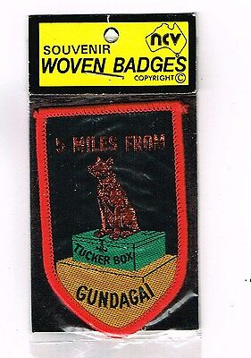 Collectable Cloth Patch Gundagai Dog On The Tucker Box