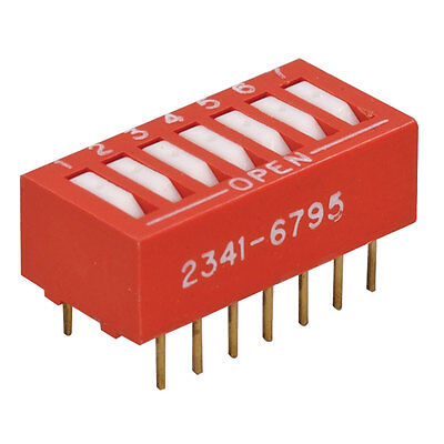 Grayhill 76RSB07S DIP Switch 7-Position Standard Rocker Flush 30 pcs