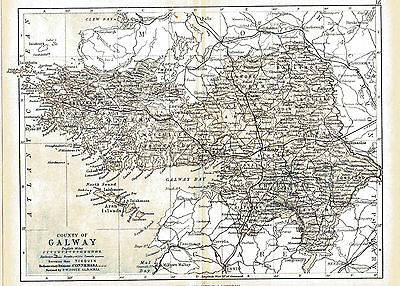 Three antique maps of County Galway & Ireland & a Connaught fact sheet.