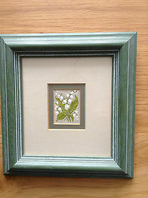1934 Kensitas Framed Cigarette Silk 'Lily of the Valley'