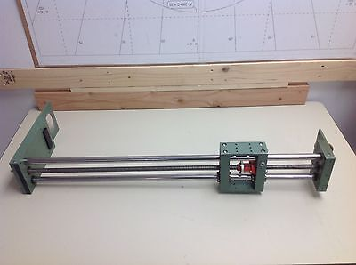 "Linear Stage Positioner Actuator Lead Screw & Rails , 1"" Per Turn , 28"" Motion"