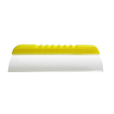"12"" Super Flex Neon Yellow Handle Silicone T Bar Edge Water Blade Squeegee"