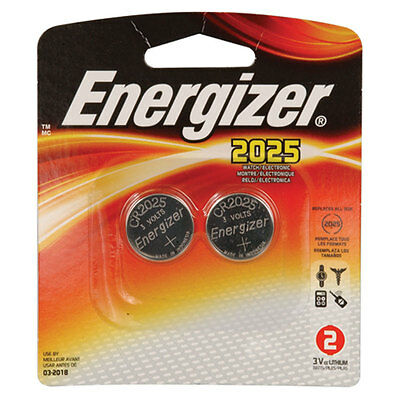 Energizer CR2025 Lithium Coin Cell Battery 3V, 162mAh 2 pack x 3 pcs