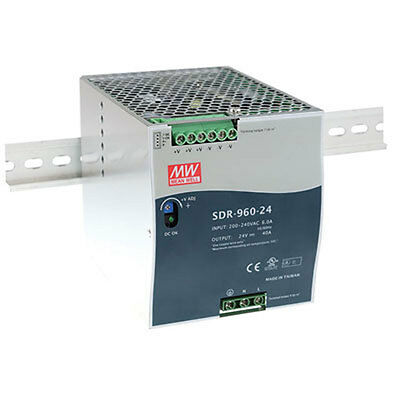 Mean Well SDR-960-24 Single Output Industrial DIN Rail Power Supply with PFC Fun