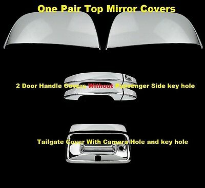 Fit 15 16 17 Chevy Colorado Mirror Chrome Cover+2 Door Handle W//O PK+Tailgate
