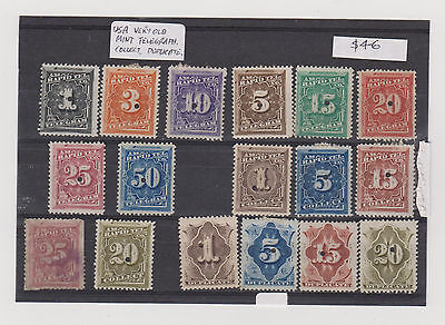 Us  Usa Very Old Stamps Telegraph Duplicate