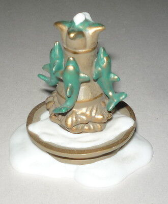 """Dept 56 Dickens Village """"dolphin Water Fountain Accessory"""""""