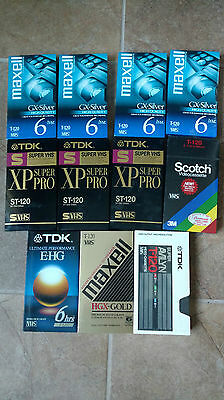 Lot of 11 VHS Sealed Blank Tapes