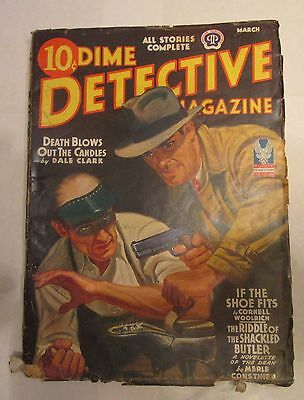 Dime Detective Pulp Magazine March 1943 Plates O'Rion  Story