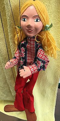 Marionette Puppet Girl with 5 Strings
