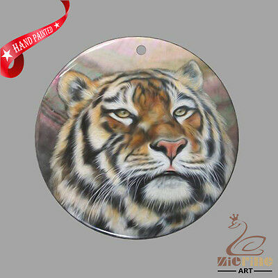 Creative Necklace Hand Painted Tiger Shell Pendant Zp30 01101