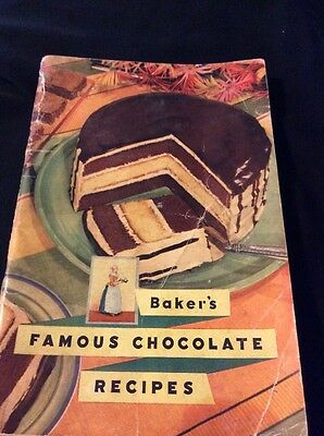 1936 First Edition General Foods Baker's Famous Chocolate Recipes Cookbook