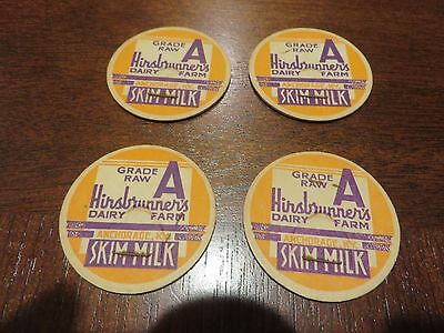 vintage milk bottle cap from a Kentucky Dairy, set of 4