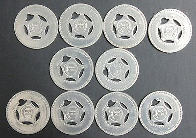 Lot of 10 Blank Good Luck Tokens