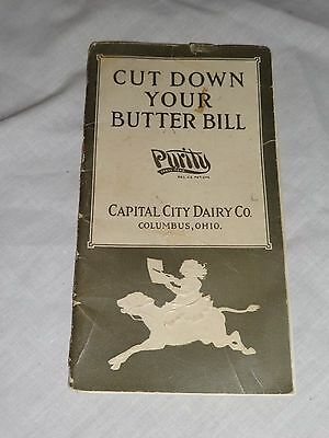 1902 Capitol City Dairy Co. C C Pride Butterine Pamphlet Columbus OH History