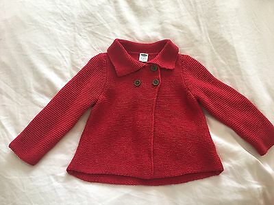 Old Navy Baby Girl Red Knit Jacket - Size 18-24 Months