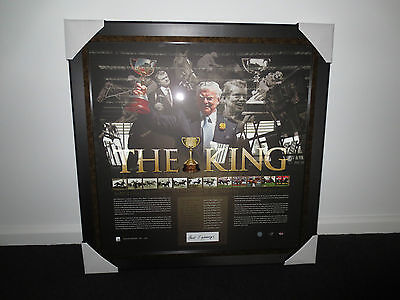 Melbourne Cup The King Bart Cummings Signed Limited Edition Framed Print