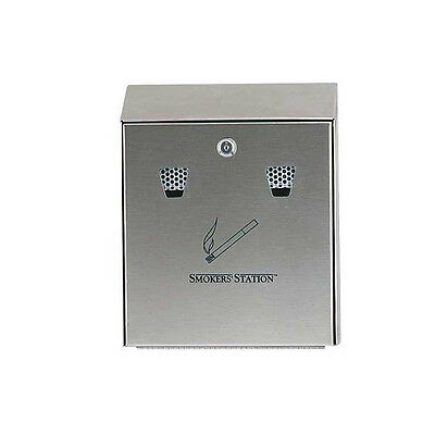 Rubbermaid Commercial Products FGR1012SS Smokers' Station, Edelstahl