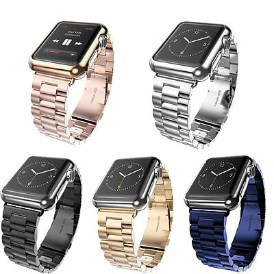 Stainless Steel Wrist Bracelet Clasp for Apple Watch iWatch Band 42mm 38mm A