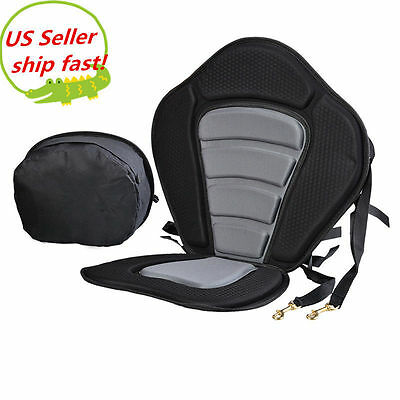 Adjustable Padded Deluxe Kayak Seat Detachable Back Backpack/Bag Canoe Backrest