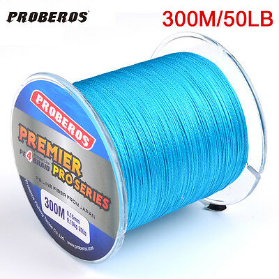 1pc 300M braided line Blue Color Fishing Line 50LB PE Braided Wire Sink Line