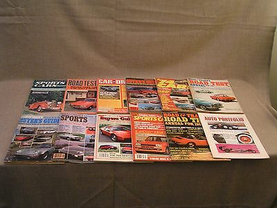 12 1959-1984 Vintage Car Automobile Magazine Lot w/ Special & Annual Issues