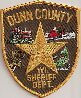 Dunn County Sheriff Dept.  Wisconsin  WI Patch NEW