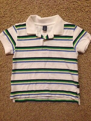 Baby Gap Toddler Boys Short Sleeved Polo Shirt Striped Sz 18-24 months