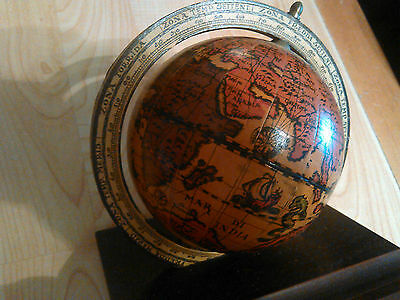 Antique Vintage Old World Zodiac Globe W/ Pin Holder Made In Italy..RARE!