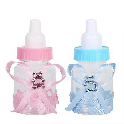 50pcs Fillable Bottles Bear for Baby Shower Favors Pink Blue Kits Party Decor LJ