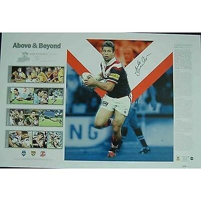 Luke Ricketson Hand Signed Above And Beyond Sydney Roosters Nrl Limited Print