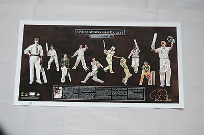 Ricky Ponting Hand Signed Pride Of Australian Official Limited Cricket Print