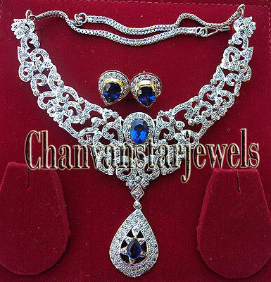 Victorian Look 8.50Ct Rose Cut Diamond Silver Necklace Set With Free Ship @CSJ28