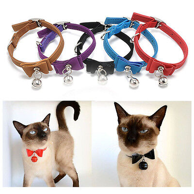 Cat Soft Collar Puppy Pet Kitten Adjustable Safety Buckle Neck Strap With Bell