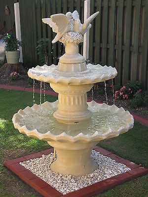 New Concrete Dove Water Fountain Water Feature Garden