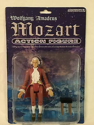 "Accoutrements WOLFGANG AMADEUS MOZART 6"" ACTION FIGURE 11453 NEW PACKAGE RARE!"
