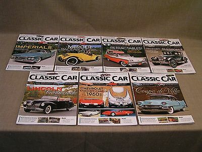 Hemmings Classic Car Magazine Lot  - 7 Issues from 2014-2015 - Nice!