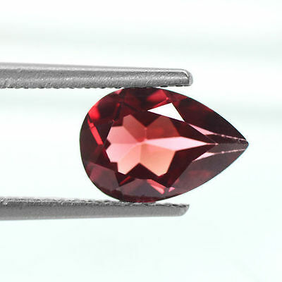 1.53 cts Dazzling Lustrous Natural Earth Mined Pyrope Red Garnet Pear Cut 9x6 mm
