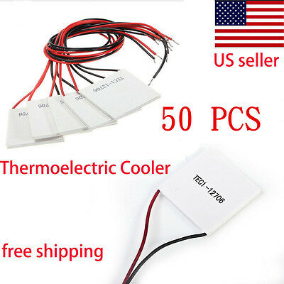 50X TEC1-12706 Thermoelectric Cooler Heat Sink Cooling Peltier Plate Module 6A P