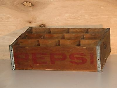 Vintage Pepsi-Cola Wooden Crate Bottle Carrier 12 Slots Vancouver Longview Wa.