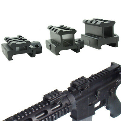 Tactical Quick Release Scope Mount Adapter 4 Slots Riser Picatinny Rail New #